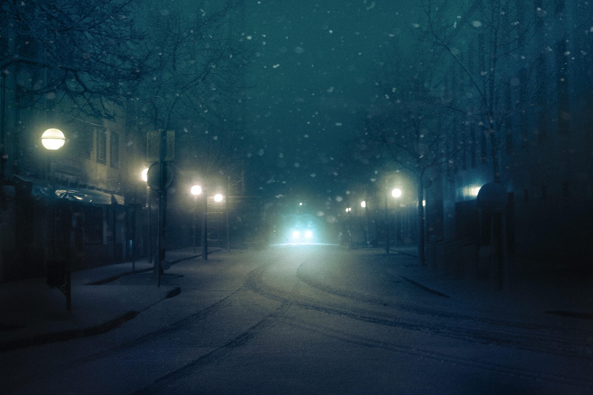 Headlights Cut Through Dense Fog In Moody Images Of Cars At Night By Custom Night Stroll Tao Tajima