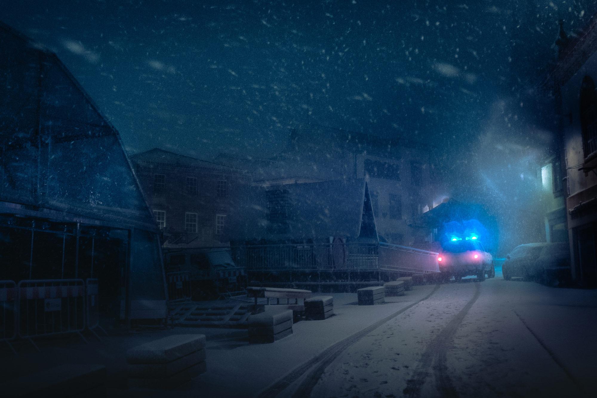 Headlights Cut Through Dense Fog In Moody Images Of Cars At Night By Unique Night Stroll Tao Tajima