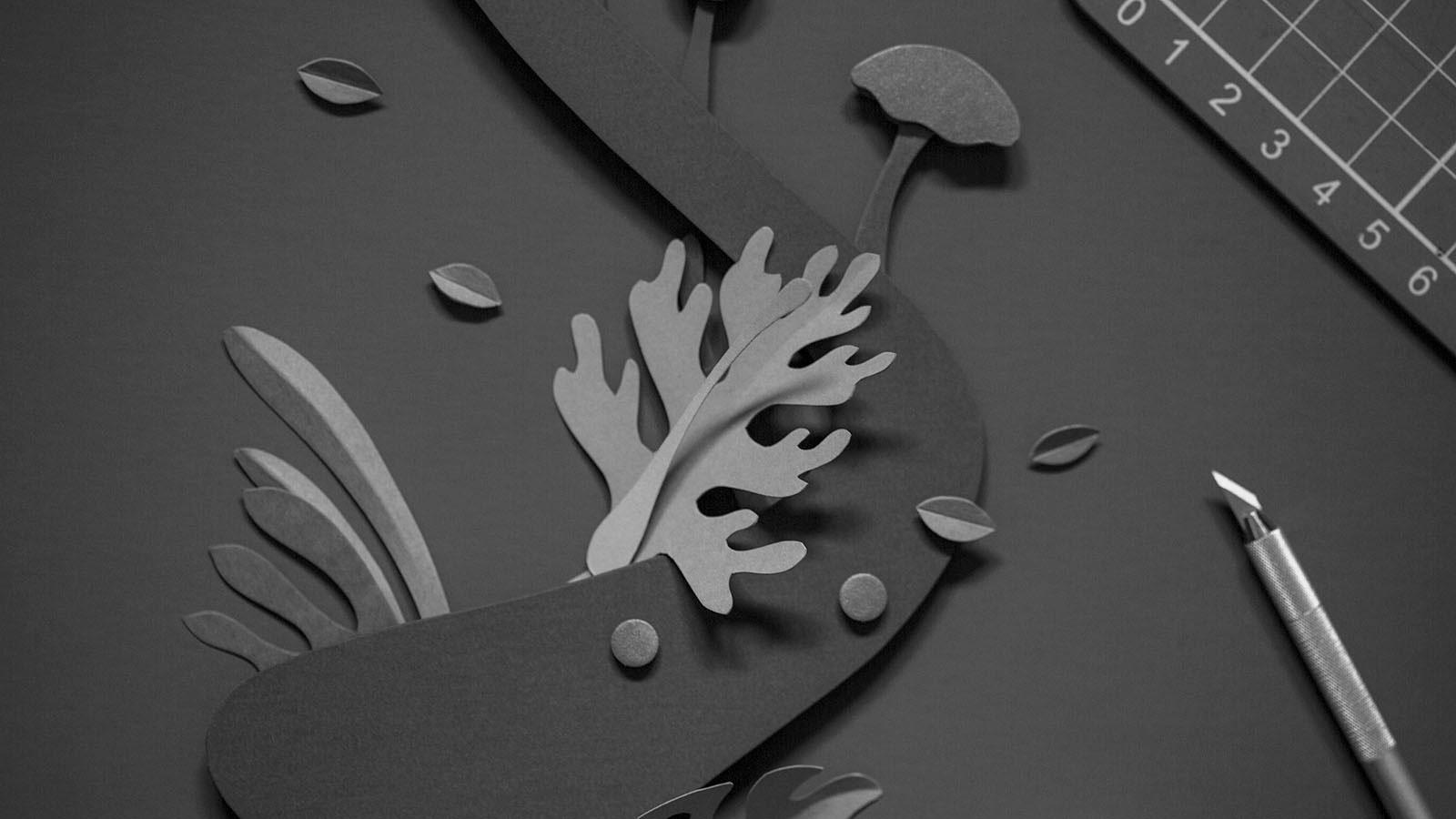 Cut Paper Illustrations Create Shadow and Depth in Imaginative Environments by John Ed De Vera