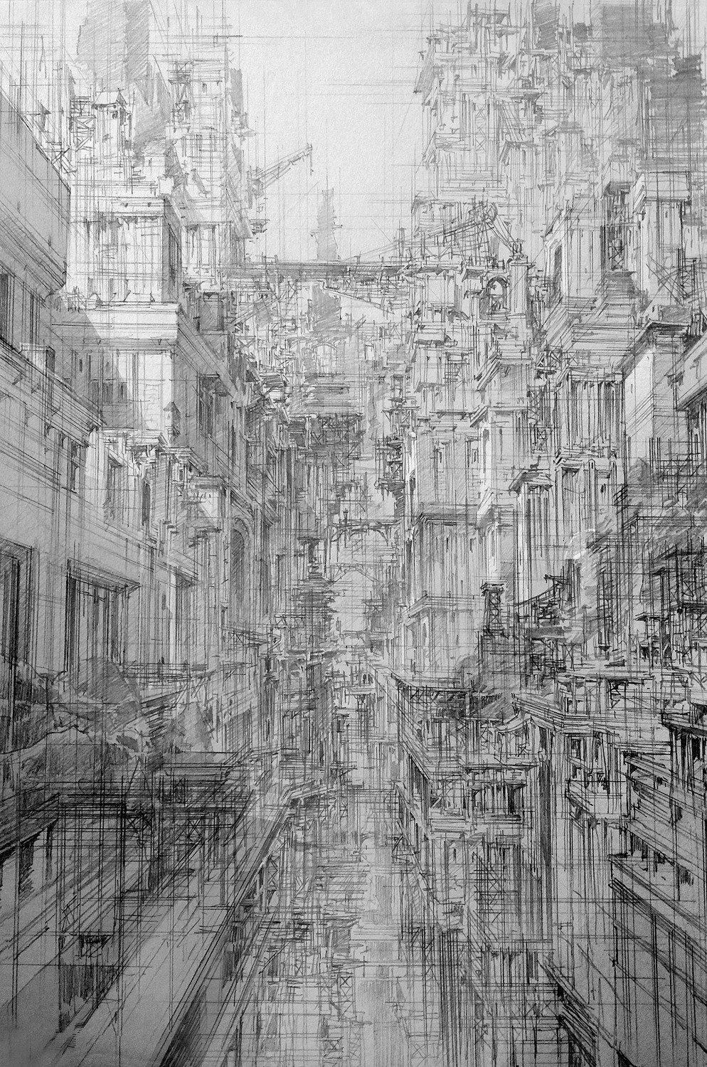 Infinite Cities Take Shape in Imagined Architectural Drawings by JaeCheol Park Artes & contextos jaecheol park 6