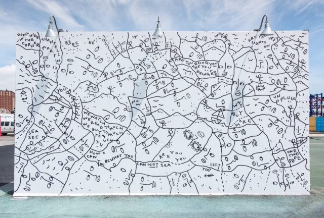 Affirmational Text Art and Doodles Combine in Immersive Murals by Shantell Martin