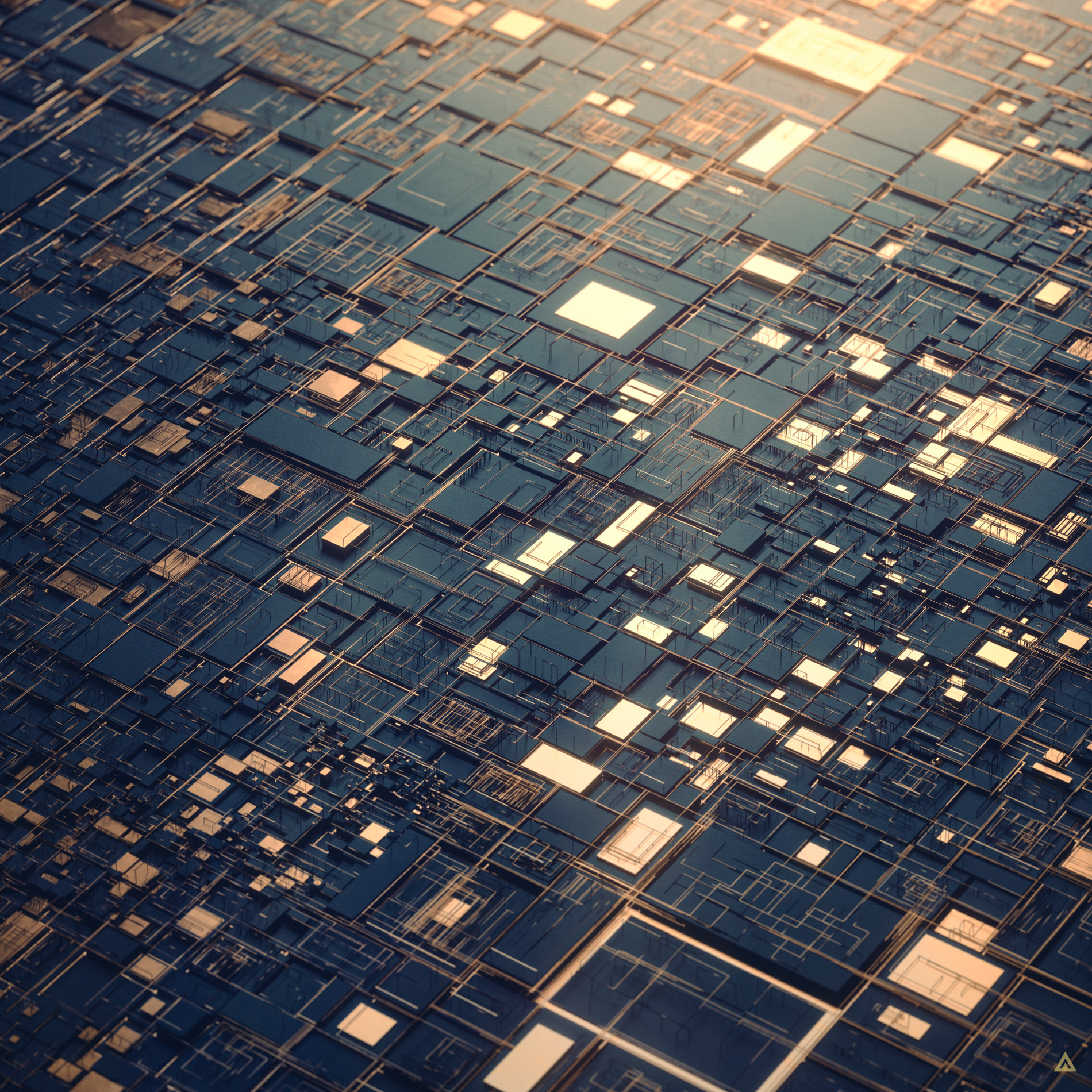 Landscapes of Glistening Digital Rectangles Formed and Subdivided by Algorithms | Colossal