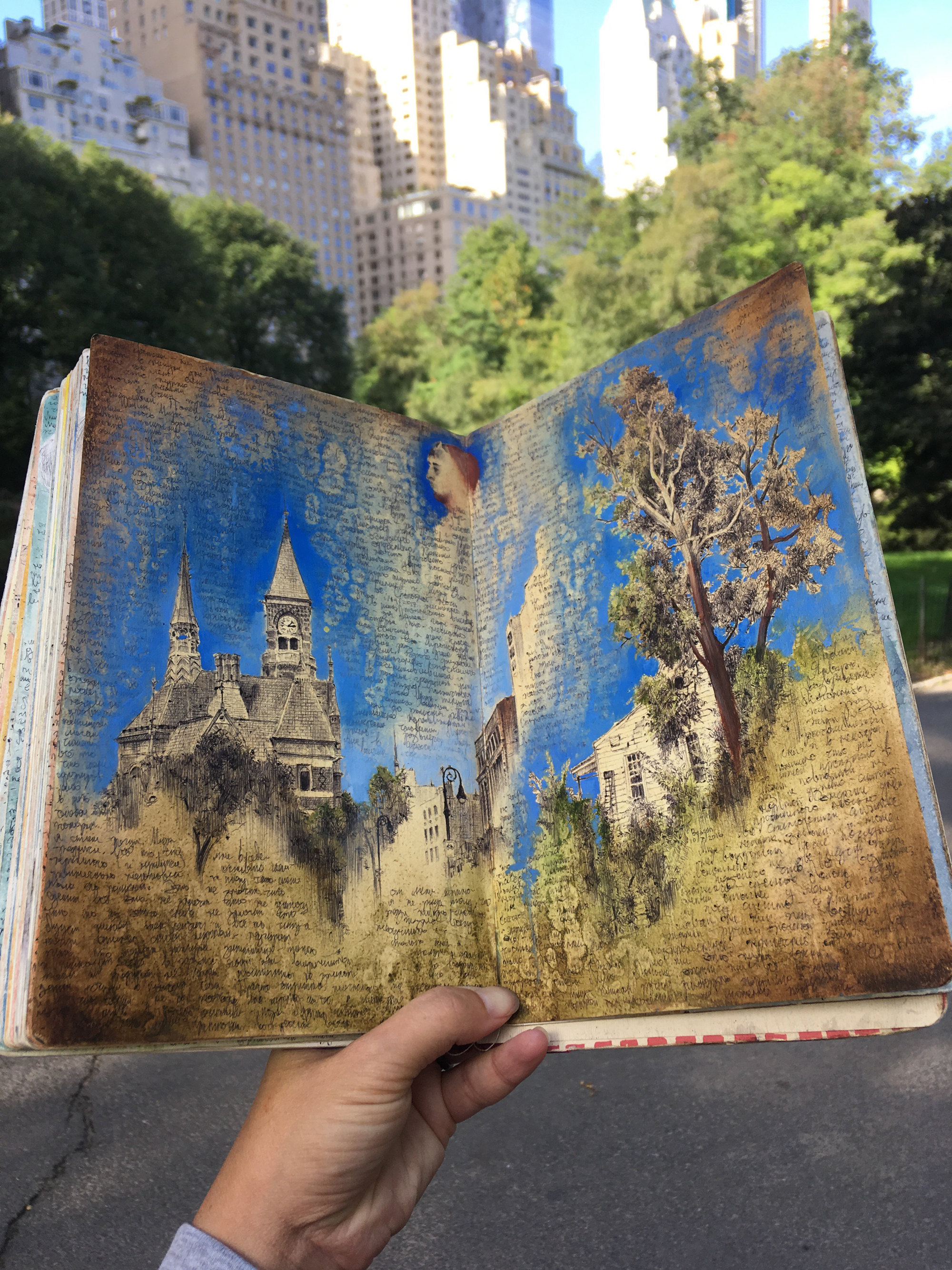 Sketchbook by Dina Brodsky