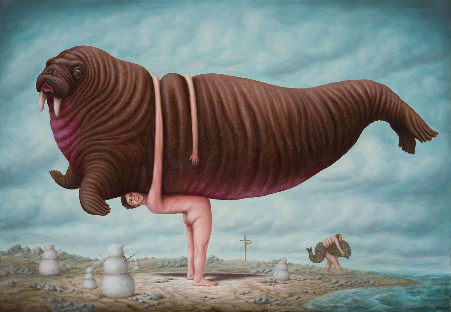 Cows, Moose, and Camels Contort into Yoga Poses and Other Surprising Positions in Paintings by Bruno Pontiroli | Colossal