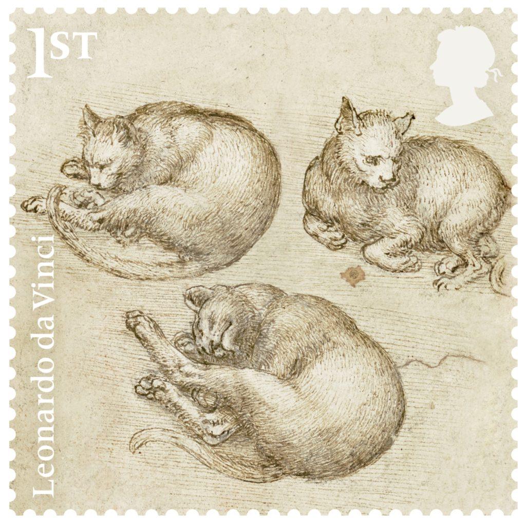 Dodici nuovi francobolli e 12 mostre simultanee per celebrare nel Regno Unito il 500° anniversario della morte di  Leonardo da Vinci