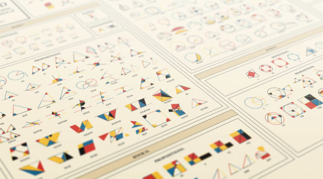 "A Contemporary Take on ""Byrne's Euclid"" Brings Geometry to Life as a Colorful Poster"