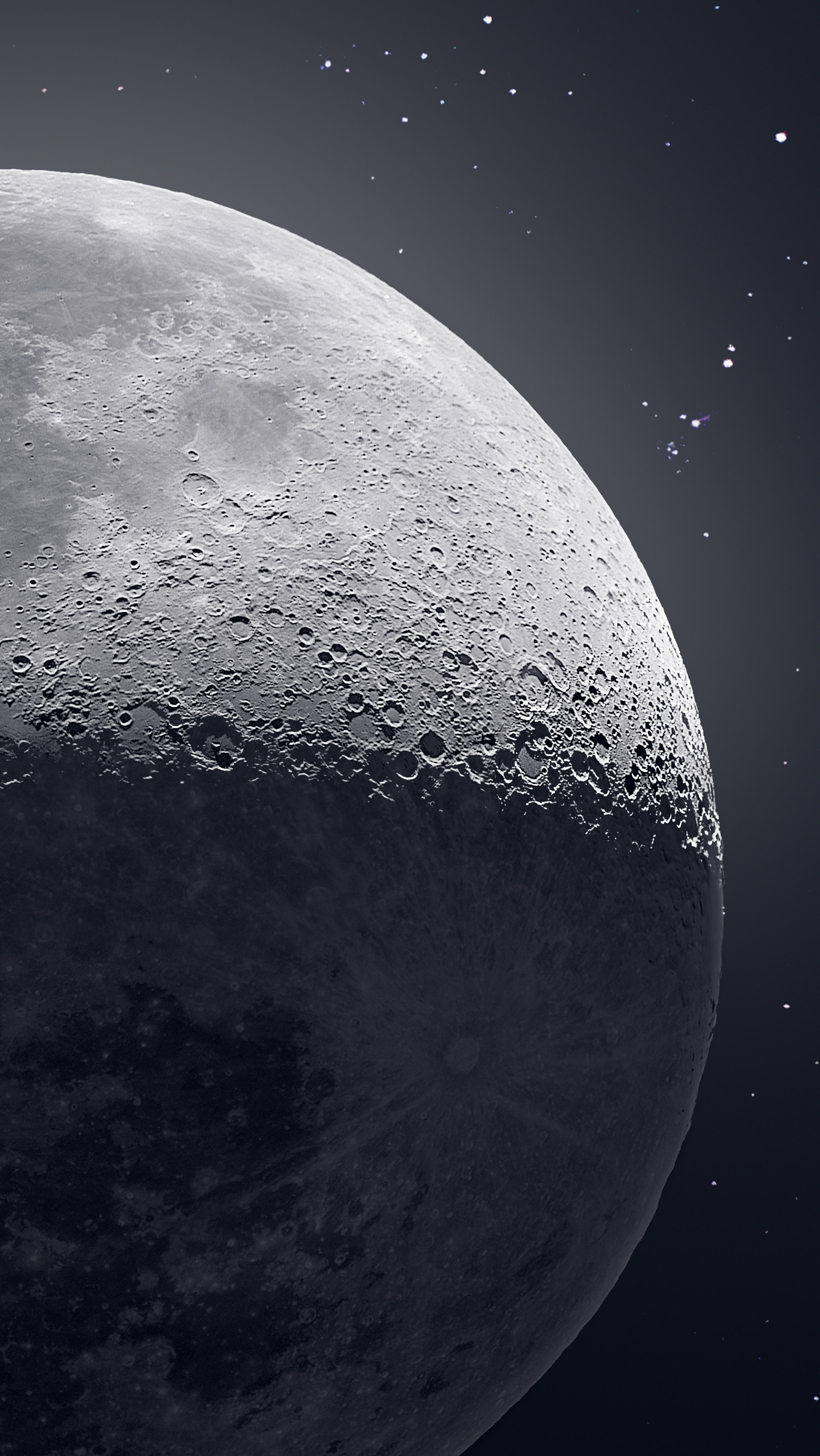 50 000 Photographs Combine To Form A Detailed Image Of The Moon And Stars Colossal