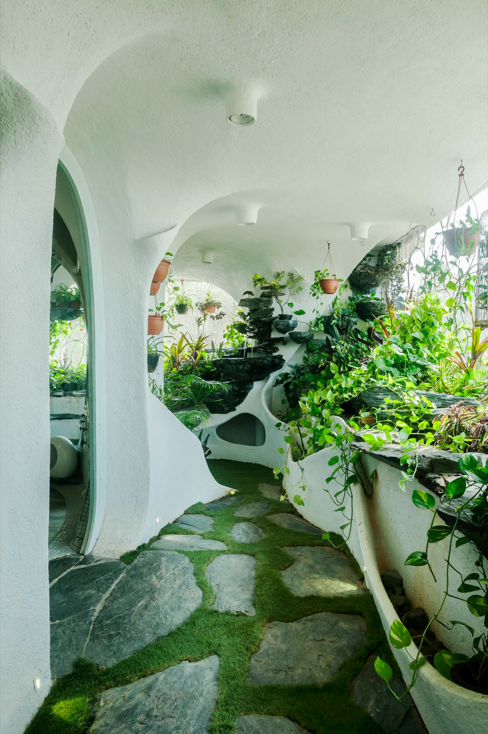 A Verdant Landscape Breathes Life into a One-Bedroom Apartment in a Suburb of Mumbai | Colossal