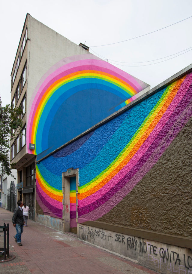 Vibrant Pulses of Color Expand Across Urban Walls in Murals by Jan Kaláb