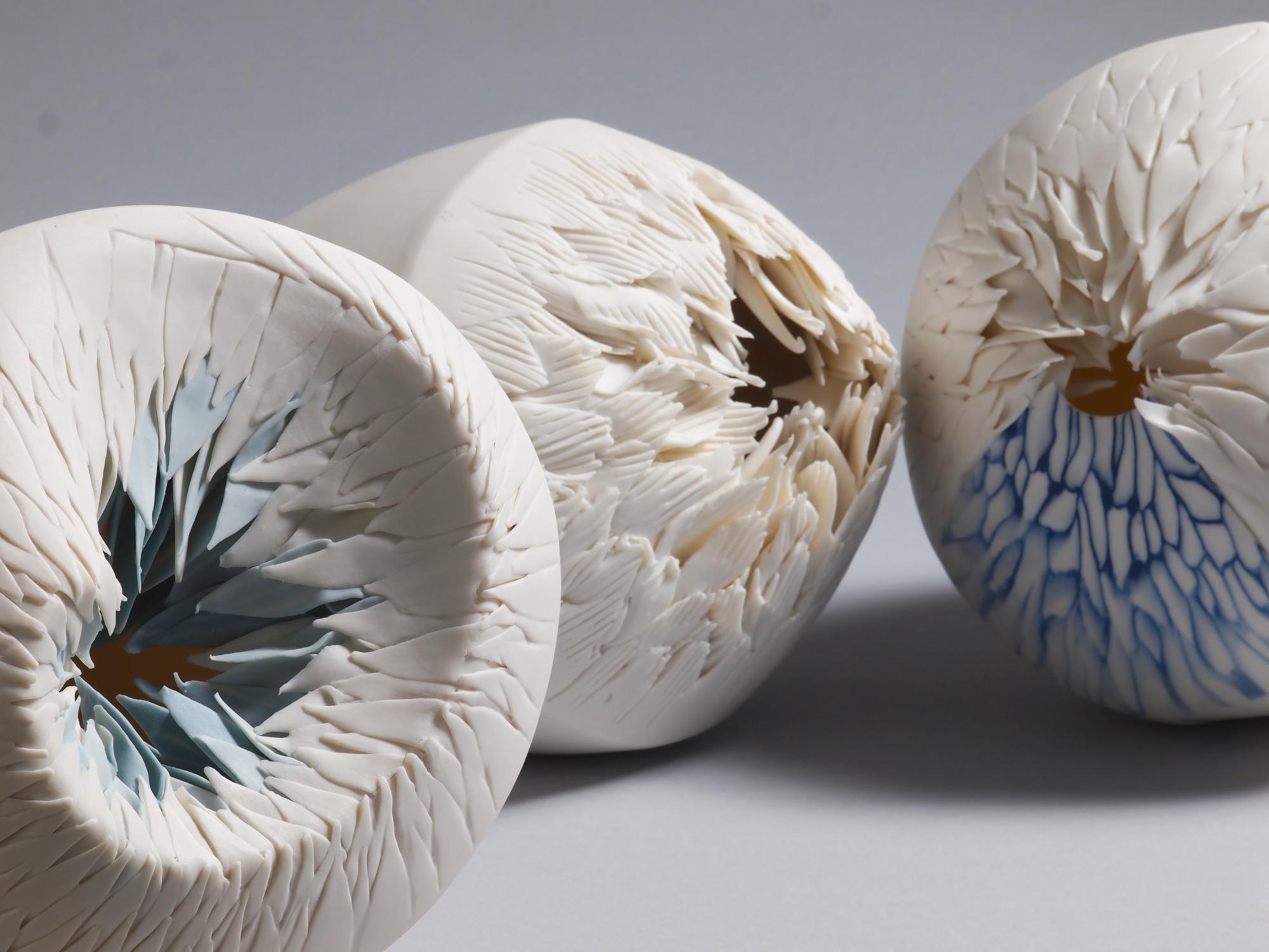 Sharp-Edged Porcelain Vessels by Martha Pachón Rodríguez