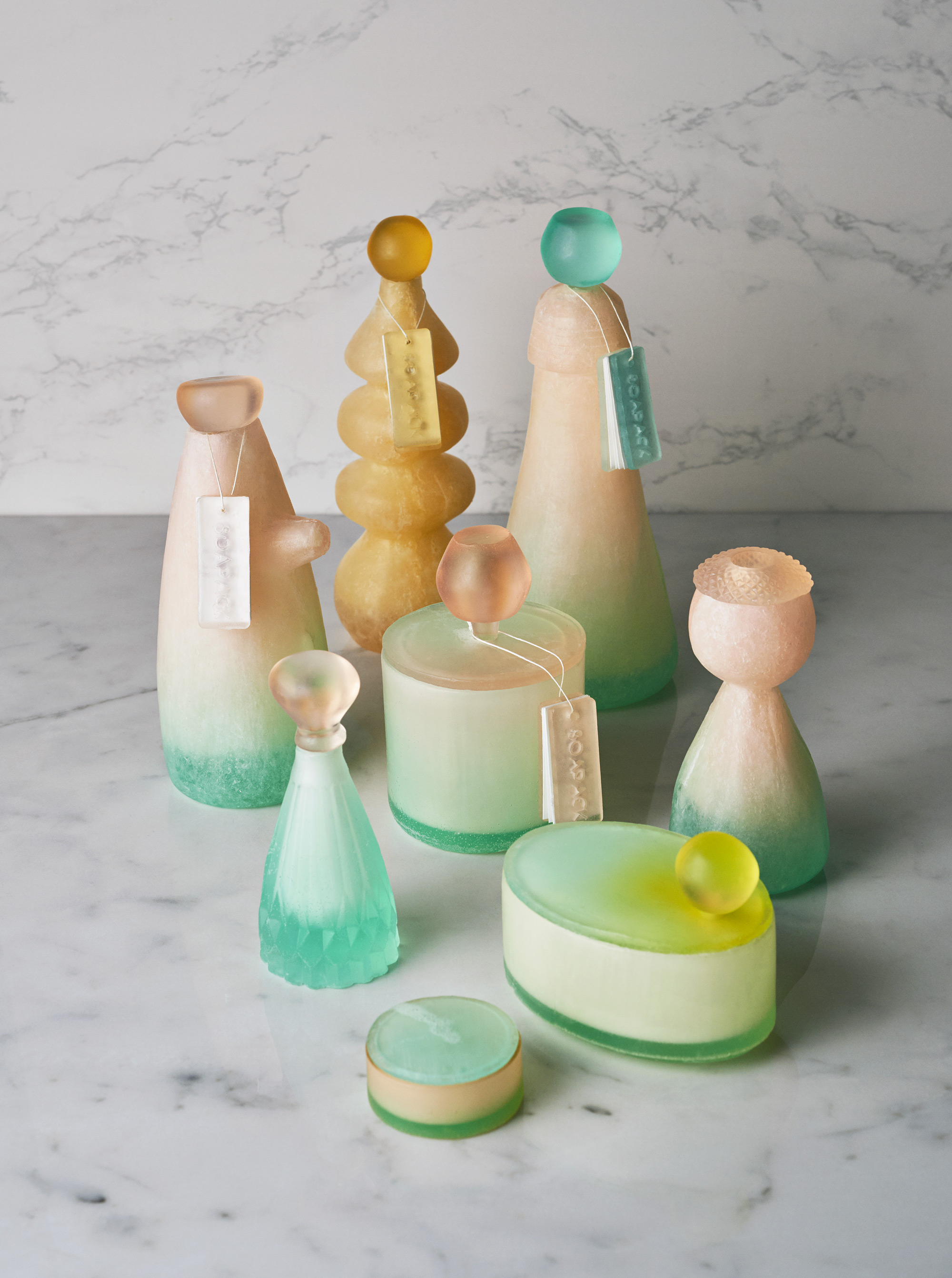 Bottles and Jars Made of Soap Replace Disposable Plastic Packaging | Colossal