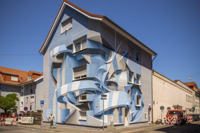 Italian Artist Peeta Blends Graffiti and Abstract Forms Into Optical Illusion Murals