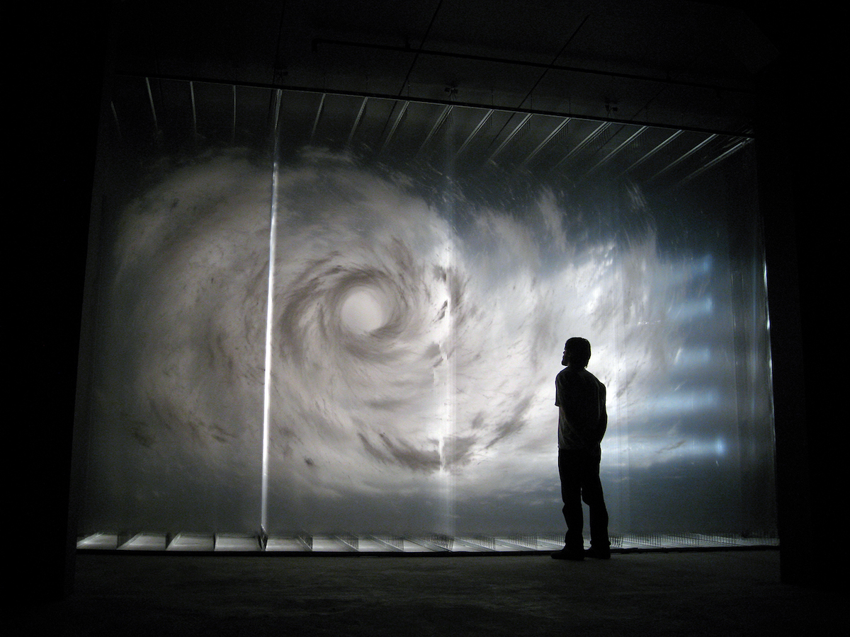 Swirling Vortexes and Ghostly Humans Emerge From Hand-Painted Transparent Sheets by David Spriggs