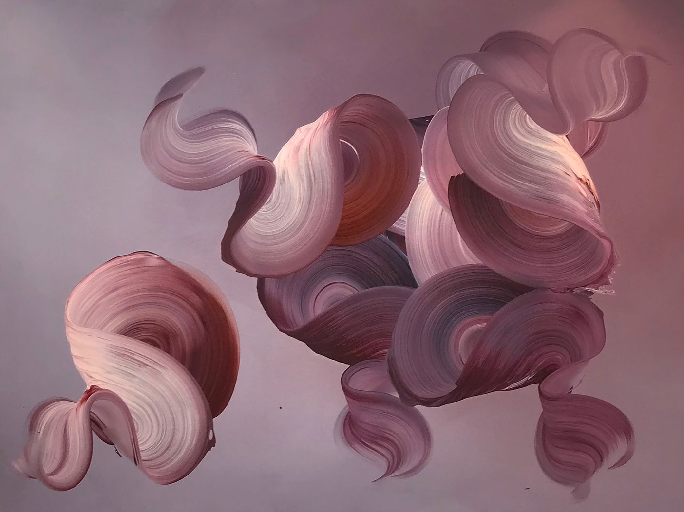 Dimensional Swirls Appear to Lift Off the Canvases of Painter Dragica Carlin | Colossal