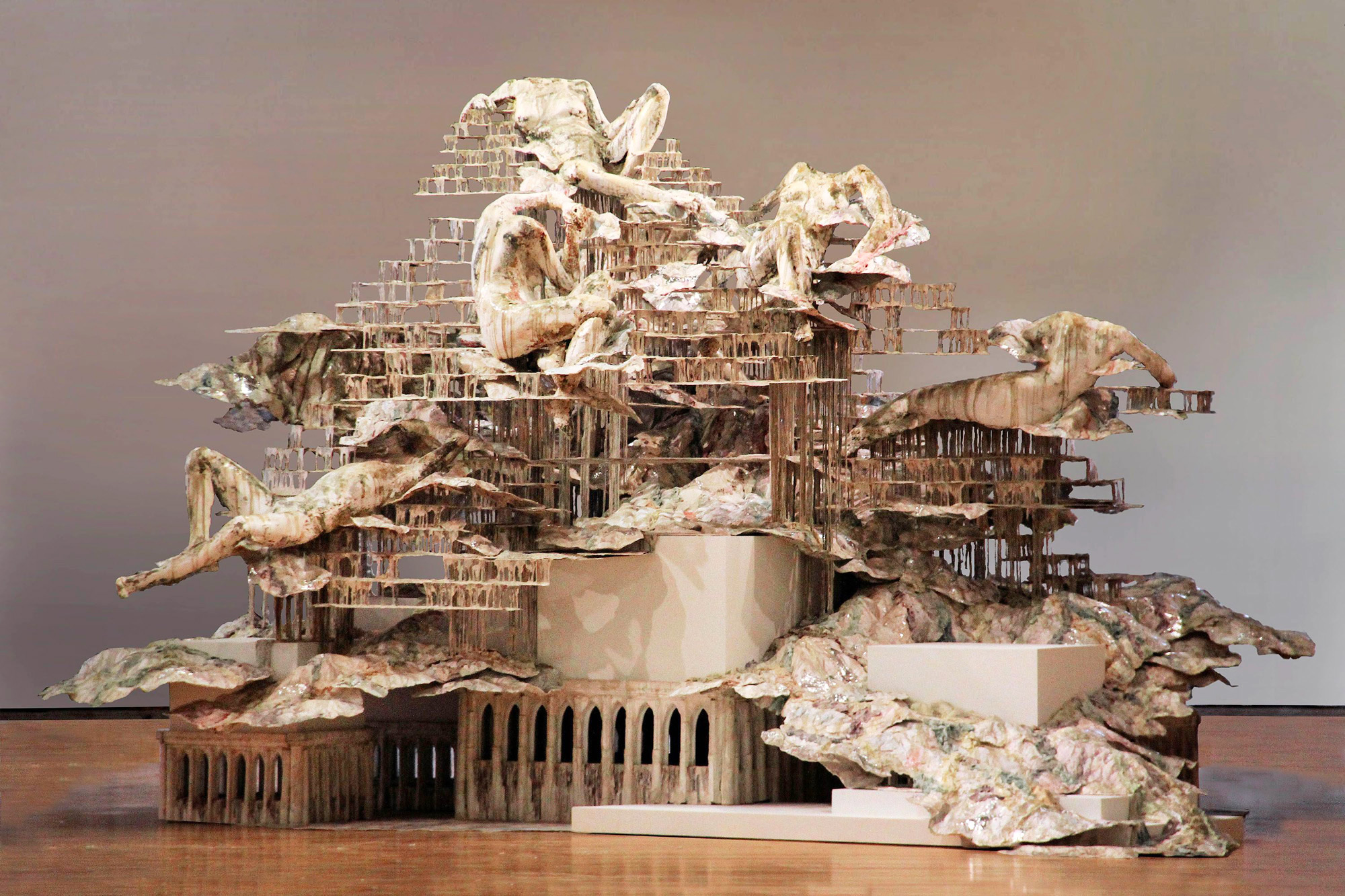 Ghostly Figures Occupy Sculptures of Architectural Ruin by Diana Al-Hadid | Colossal