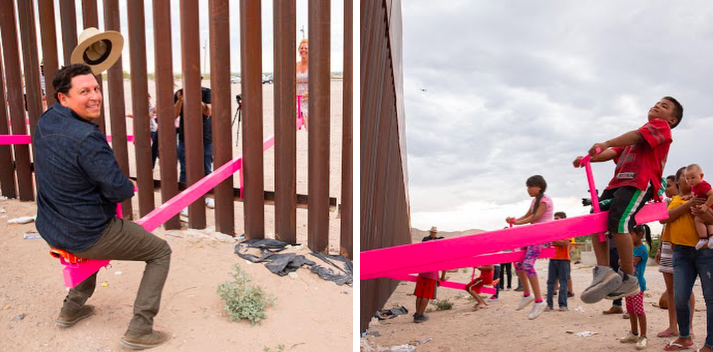 Rael San Fratello's Pink Teeter-Totters at the U.S.-Mexico Border Win Beazley Design of the Year