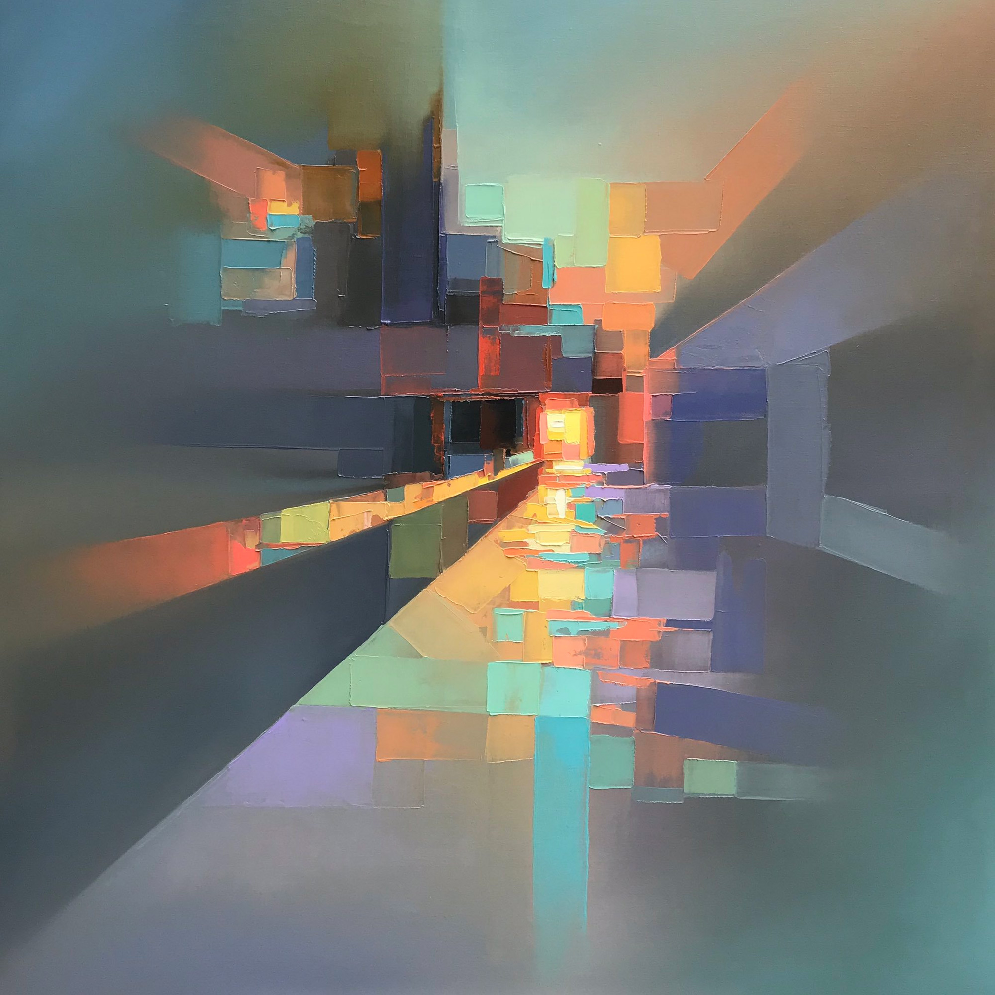 Landscapes By Jason Anderson Blend Precise Pixelation And