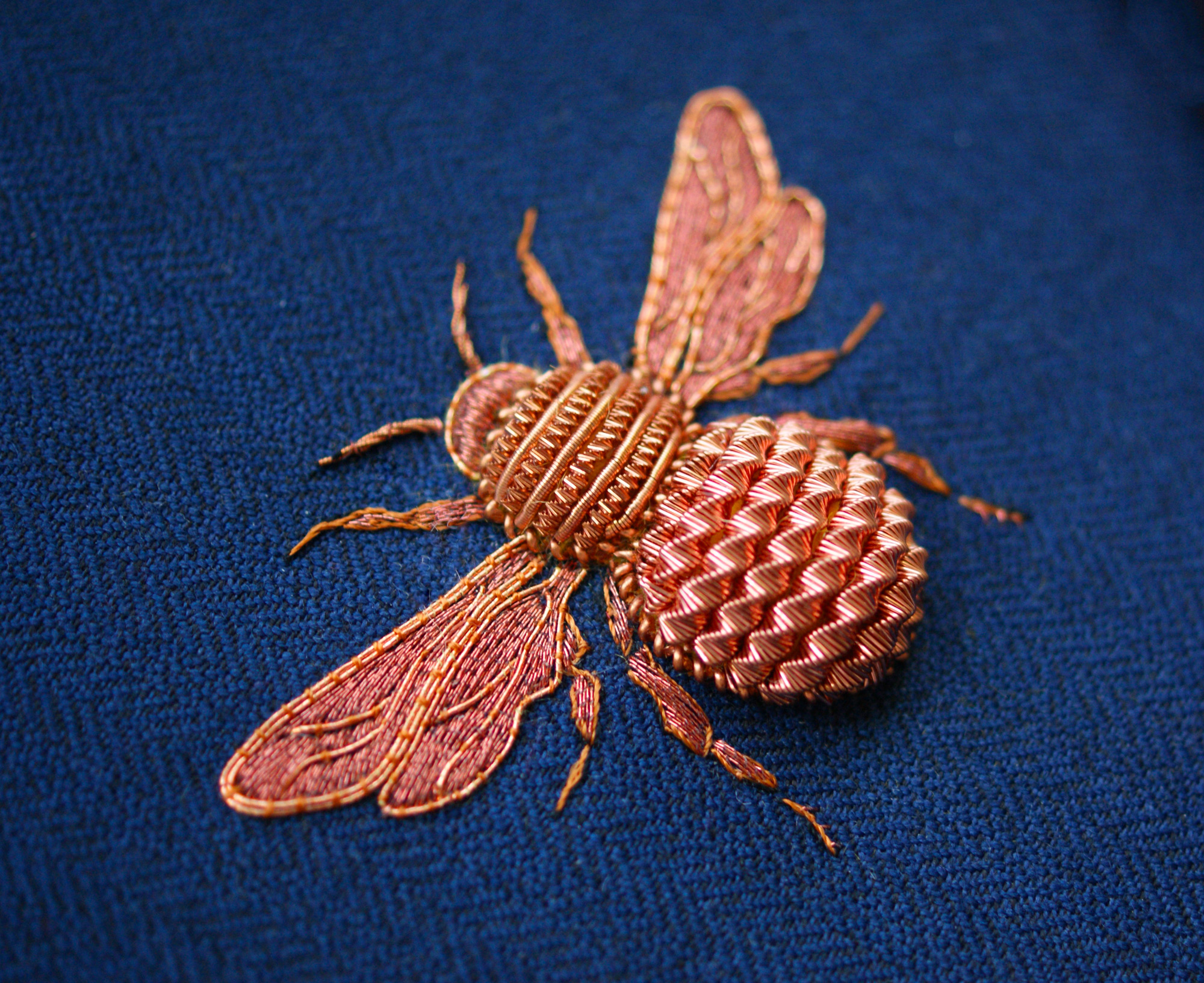 Elaborate Embroidery by Laura Baverstock Forms Insects and Animals from Precious Metals and Colored Threads | Colossal