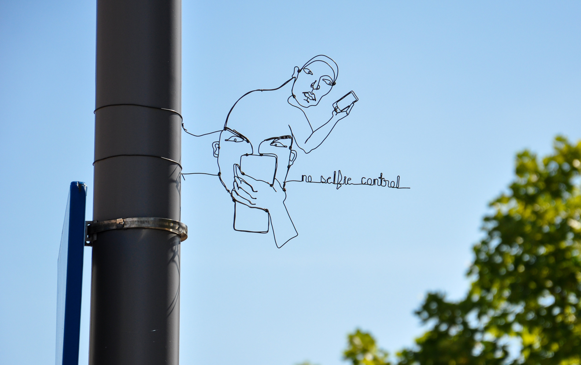 Complex Bent Wire Portraits by Spenser Little Become Street Post Accessories