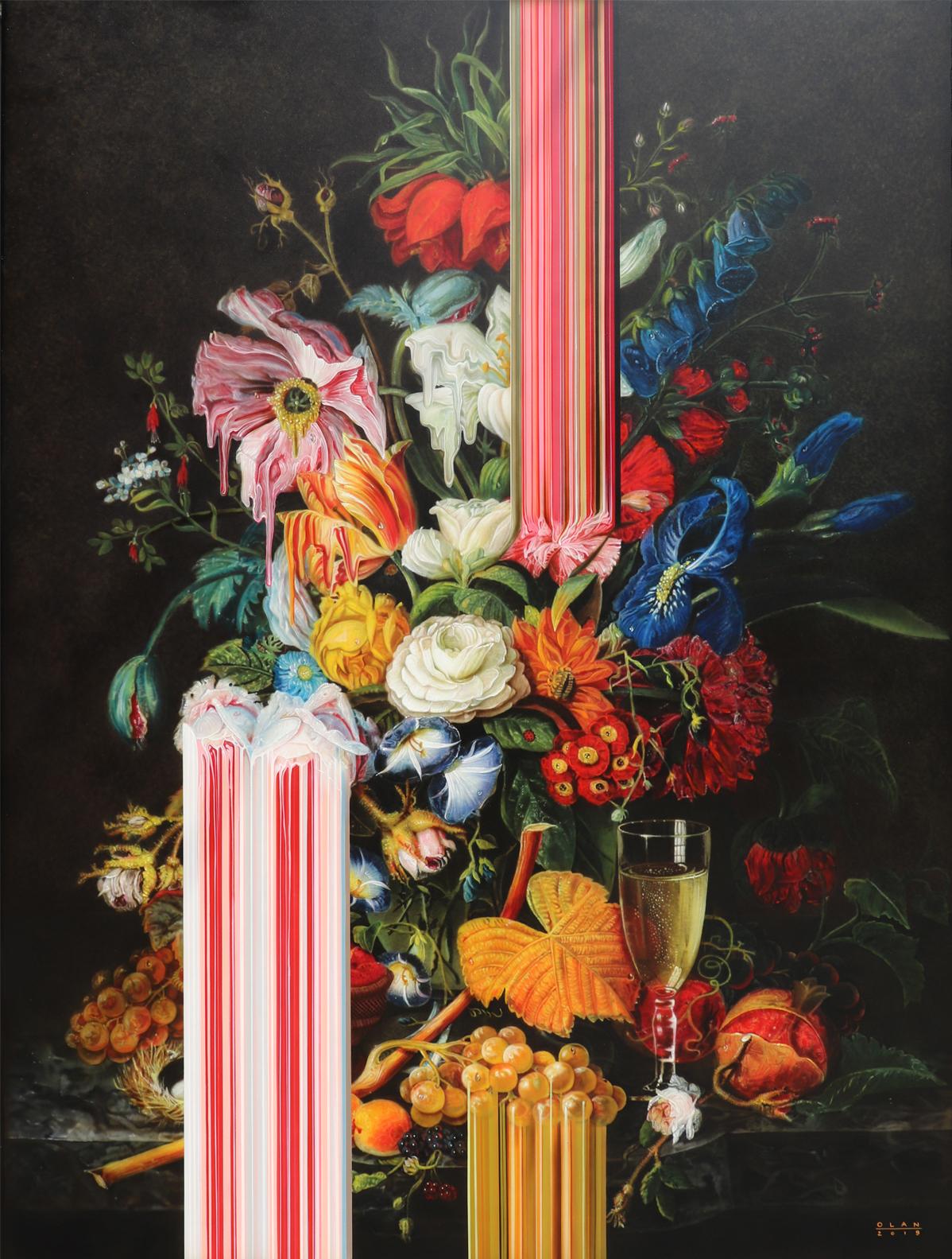Dipinti glitch rivoluzionano le nature morte del XVII secolo di Olan Ventura