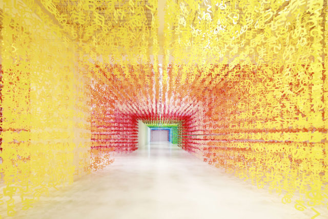 140,000 Pieces of Paper Form a Colorful 'Universe of Words' Installation by Emmanuelle Moureaux