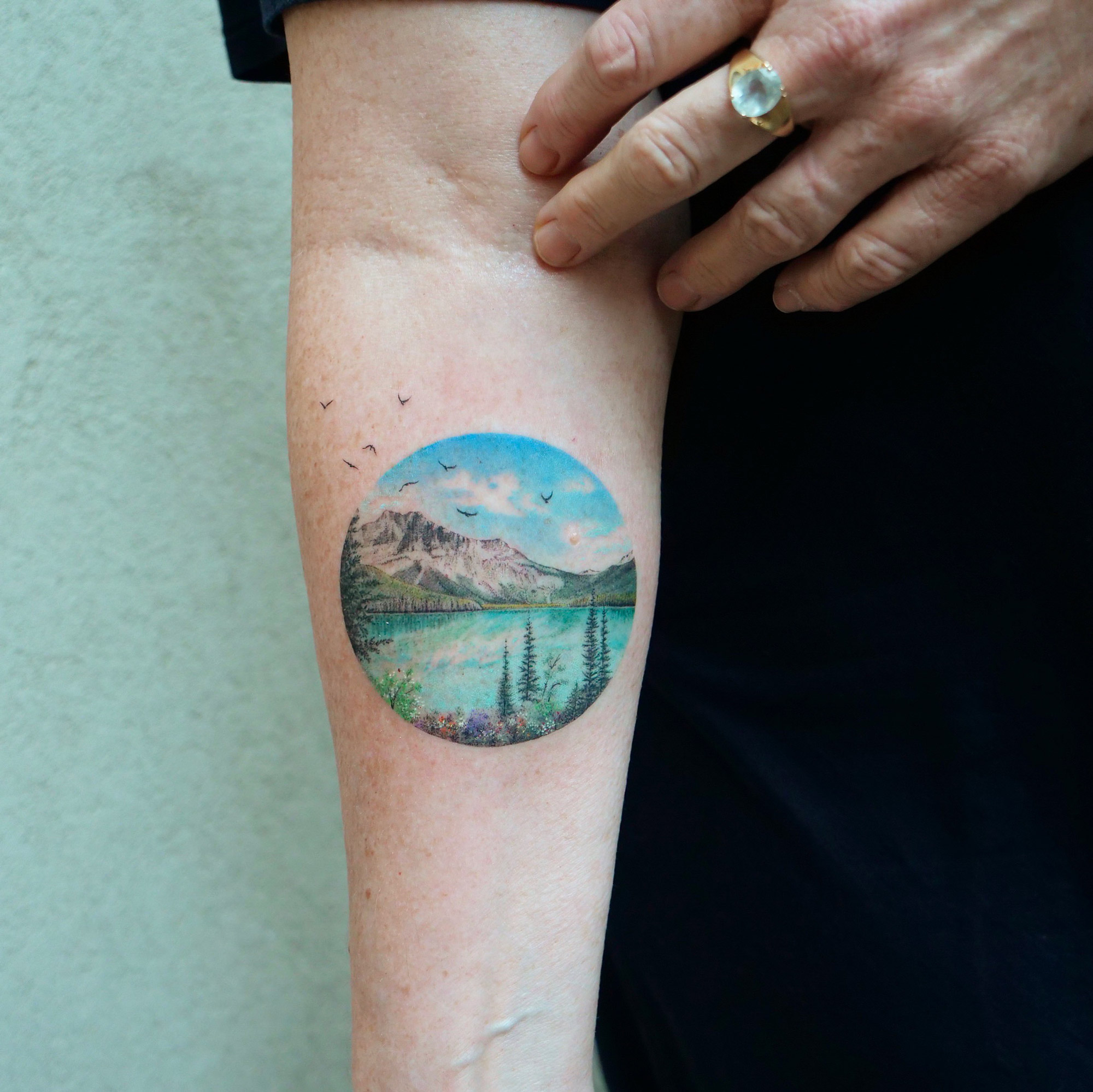 Perfectly Round Tattoos by Eva Encompass Miniature Worlds Inspired by Art History | Colossal
