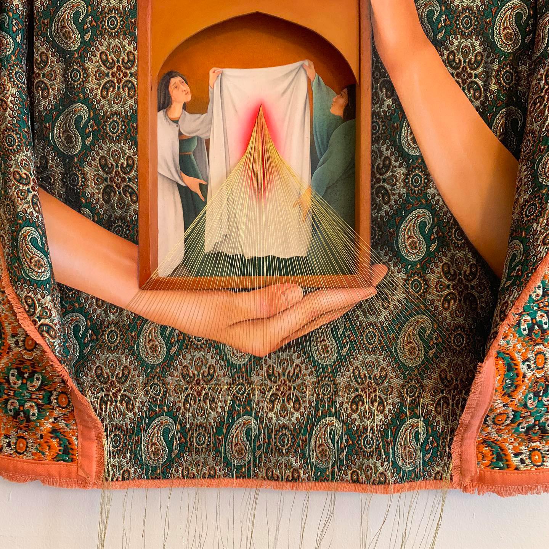 Meditative Mixed-Media Paintings by Arghavan Khosravi Subtly Address Human Rights Issues