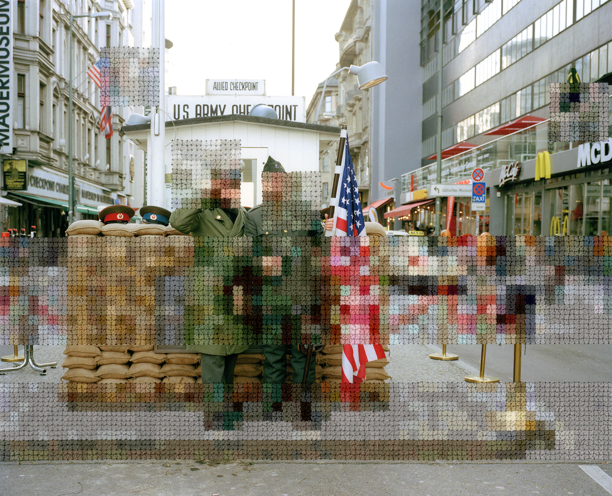 Hand-Stitched Photographs by Diane Meyer Mimic the Opacity and Divisiveness of the Berlin Wall