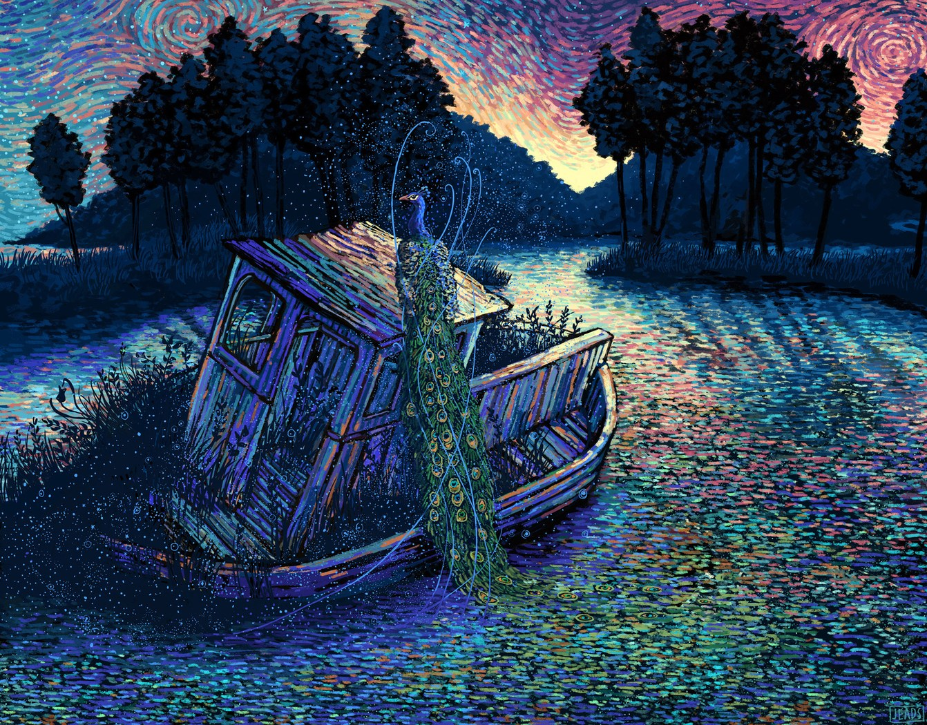 Fantastical Worlds Created with Dappled Brush Strokes by Illustrator James R. Eads | Colossal