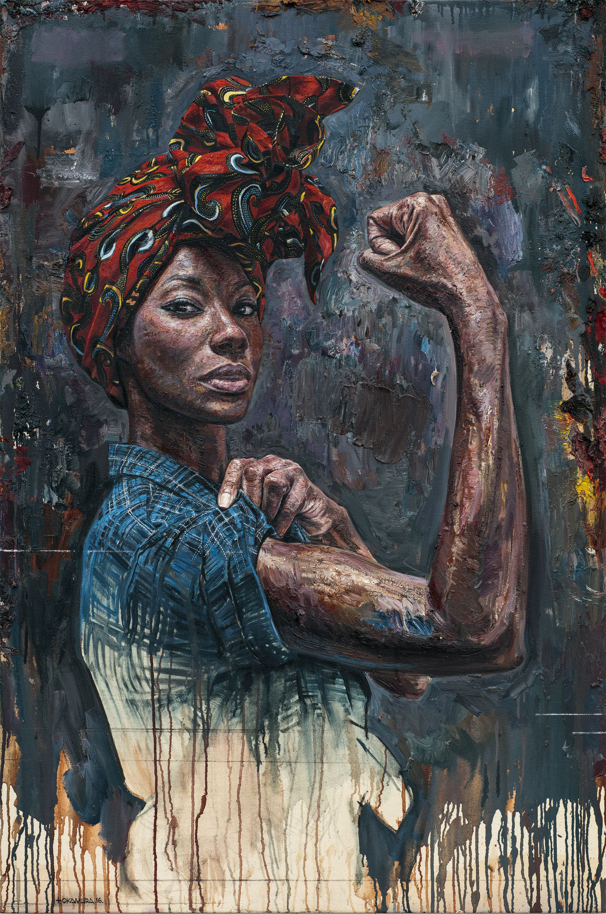 Striking Portraits Featuring Powerful Women of Color Painted by Artist Tim Okamura