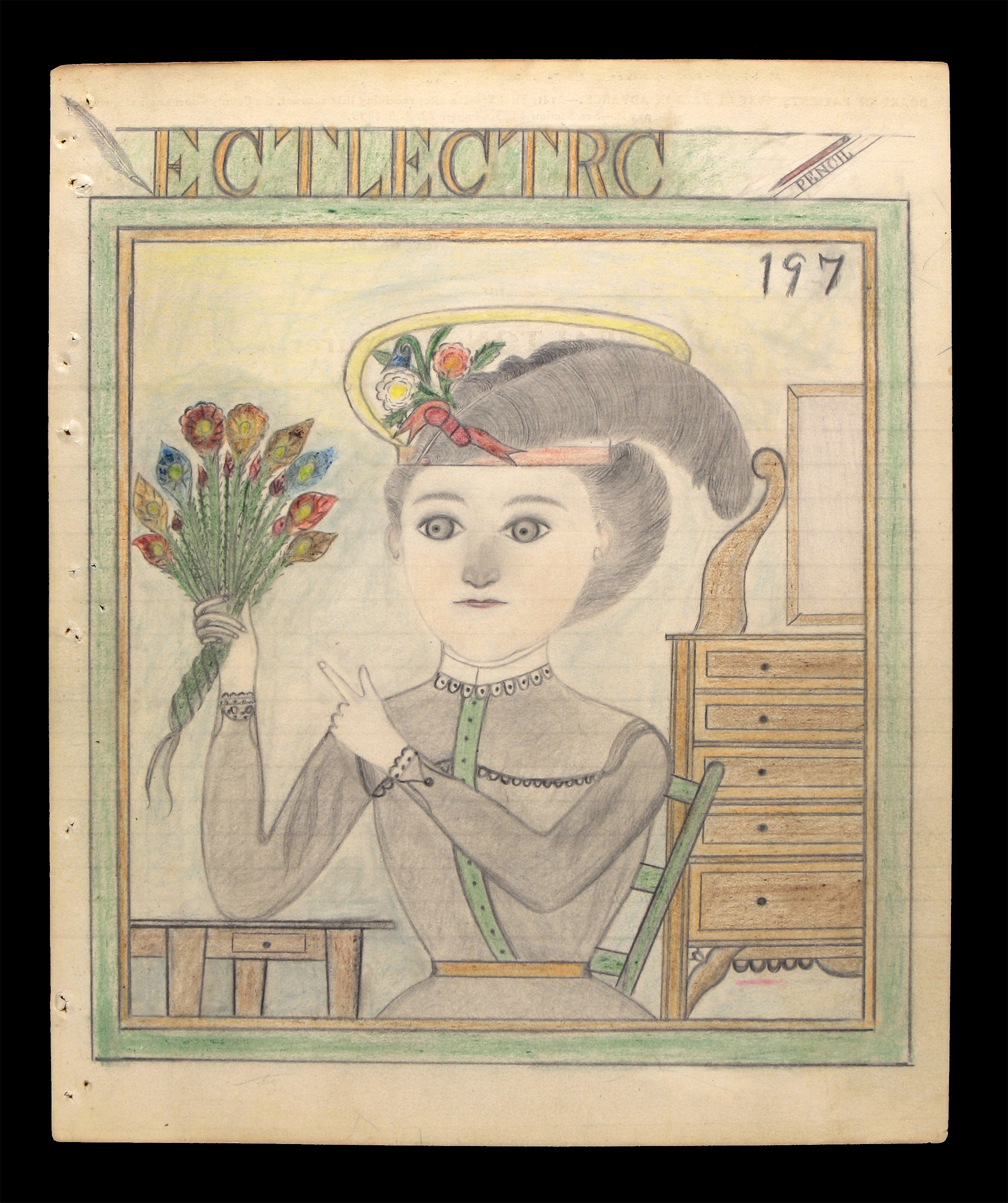 Ectlectrc Pencil: Lost Collection of Pencil Drawings Reveals Trials of Patient at Missouri State Hospital No. 3
