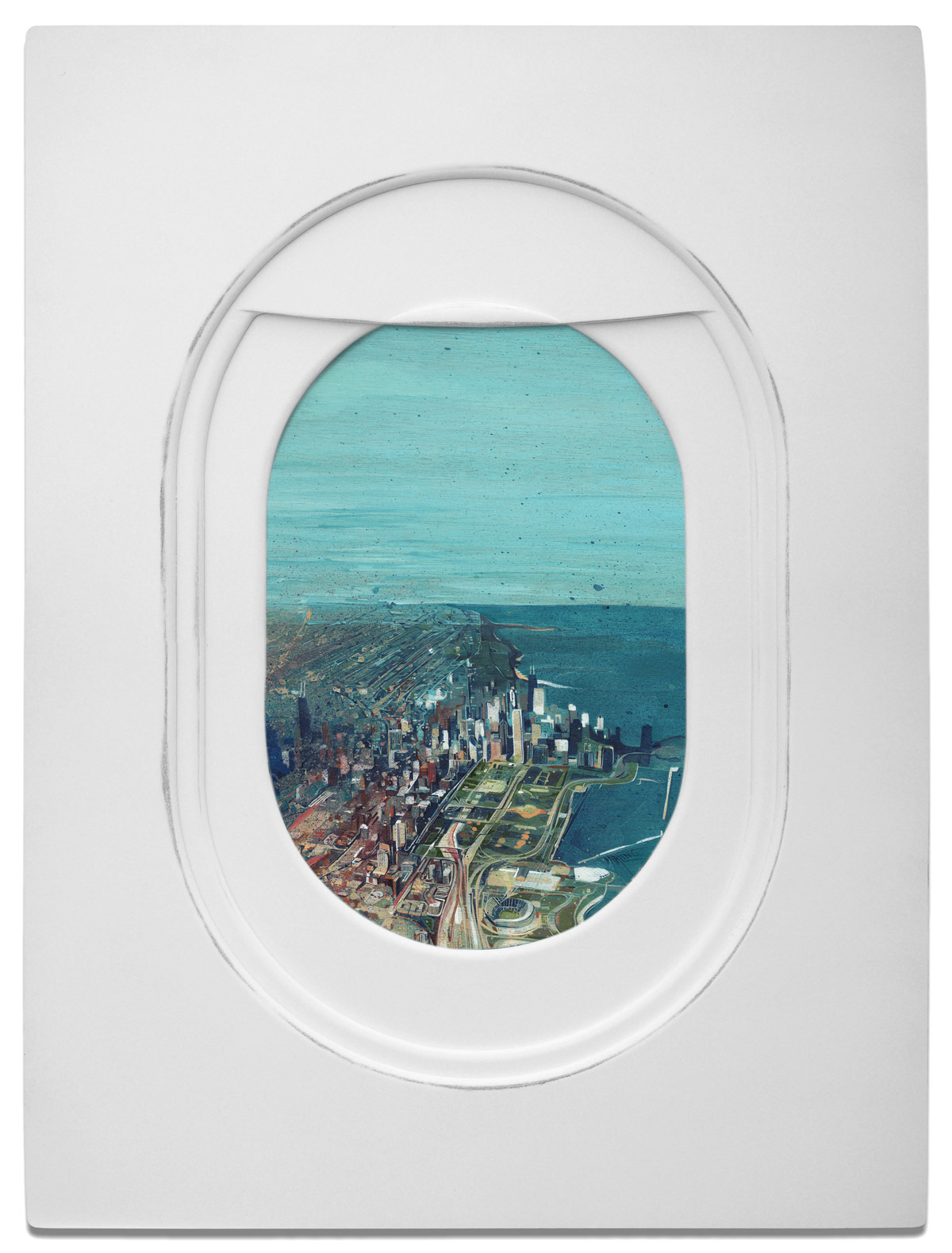 Peek Out of These Painted Airplane Windows to Spot Diverse Landscapes | Colossal
