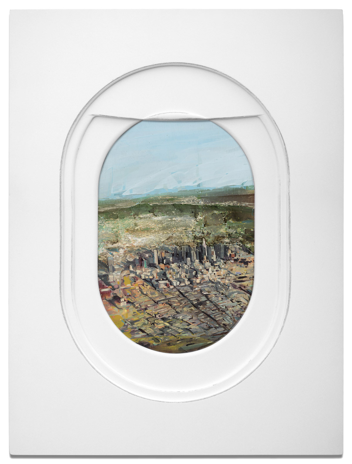 Peek Out of These Painted Airplane Windows to Spot Diverse Landscapes