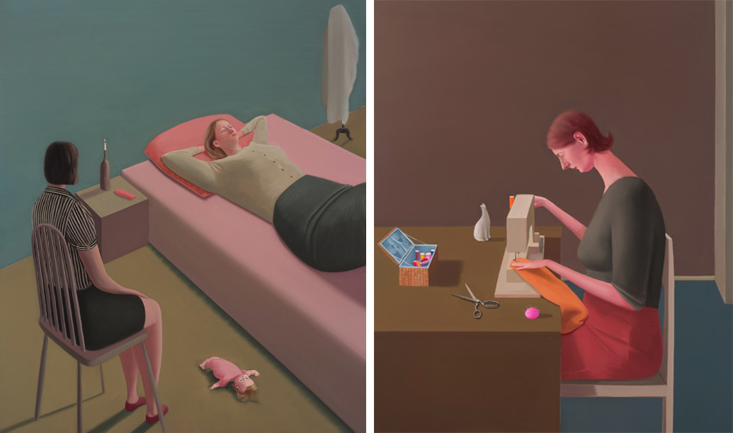 Minimalist Paintings by Prudence Flint Emphasize the 'Emotional Weight' of Womanhood