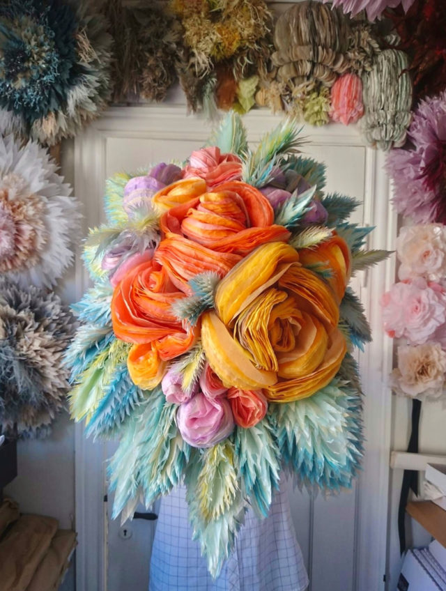 Oversized Paper Flowers Bloom in Lush Bunches by Marianne Eriksen Scott-Hansen