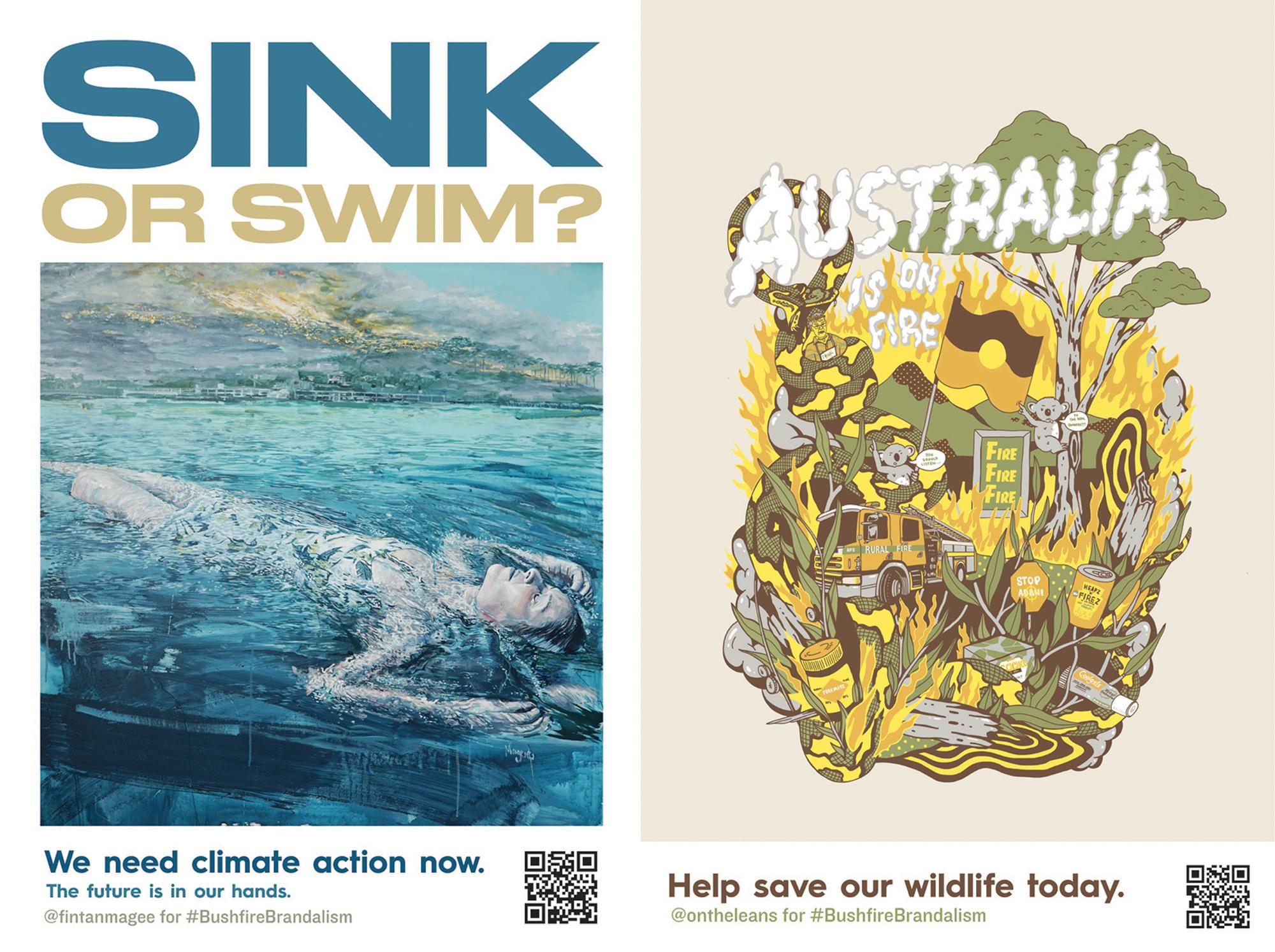 Bushfire Brandalism: Guerrilla Campaign Replaces Ads Across Australia with Climate Crisis Appeals