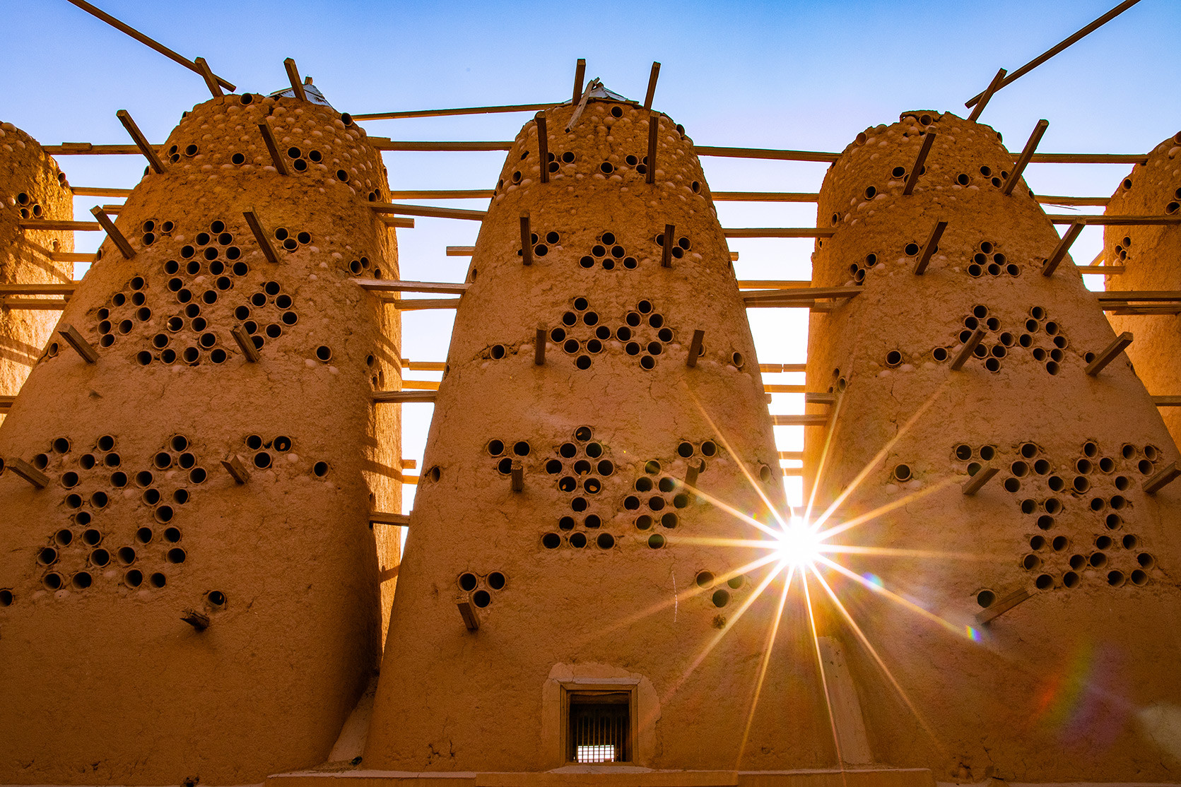 Historical Adobe Pigeon Towers Located Near Riyadh Captured in Photographs by Rich Hawkins