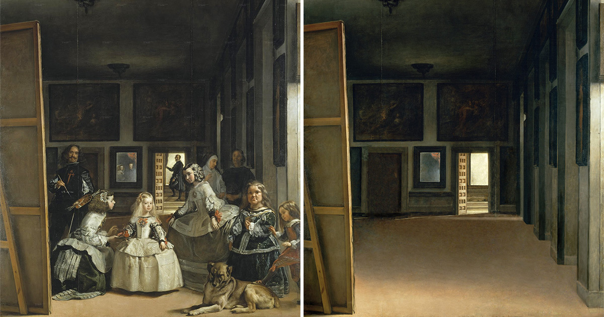Human Figures Removed from Classic Paintings by Artist José Manuel Ballester