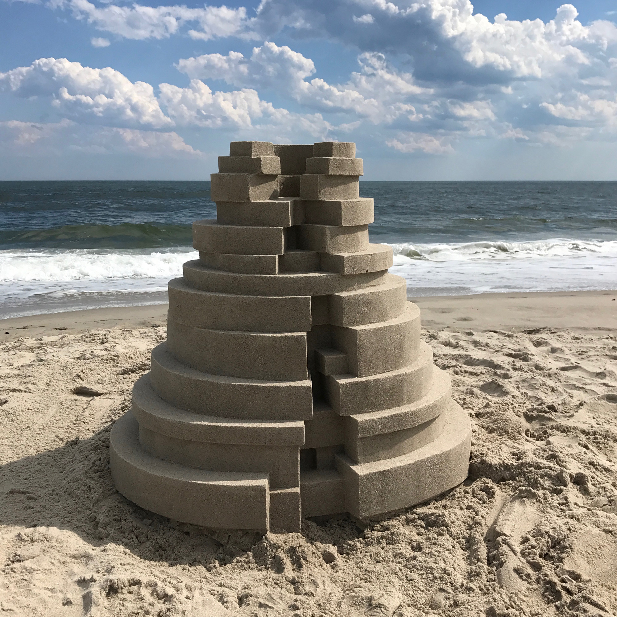 Geometric Doorways and Angular Turrets Form Sand Fortresses by Calvin Seibert