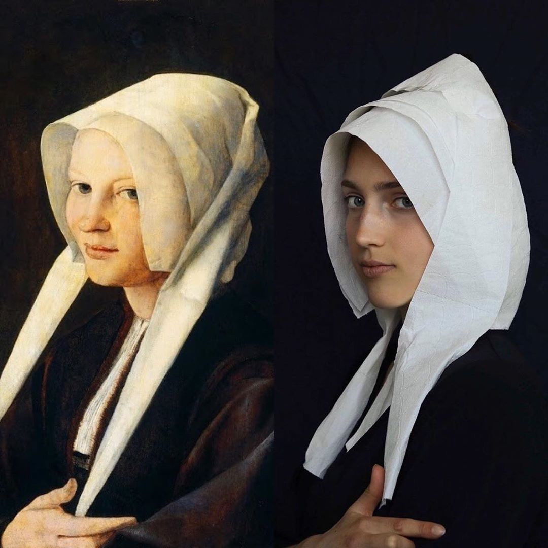 People are Recreating Famous Artworks Using Whatever They Have at Home During Quarantine