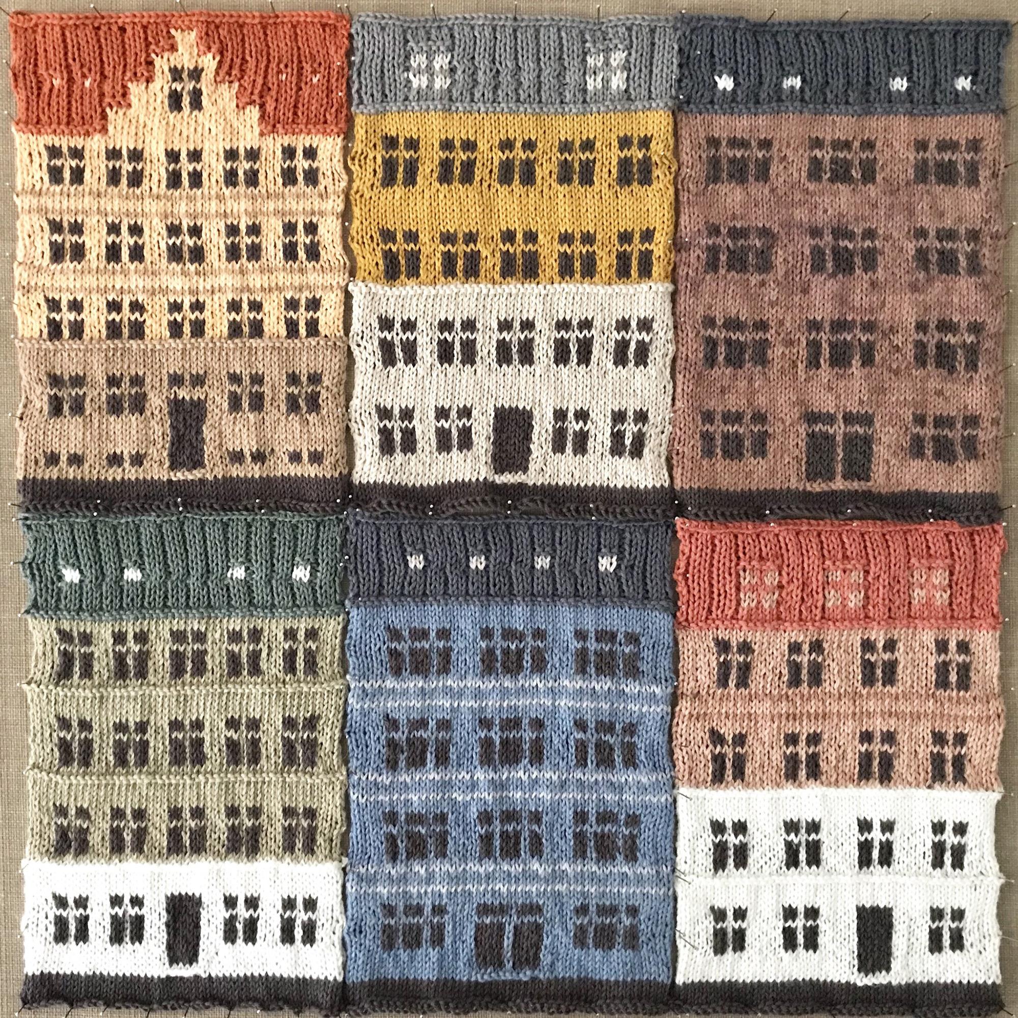 Copenhagen's Distinct Architecture Knit into Color-Blocked Urban Landscapes by Jake Henzler