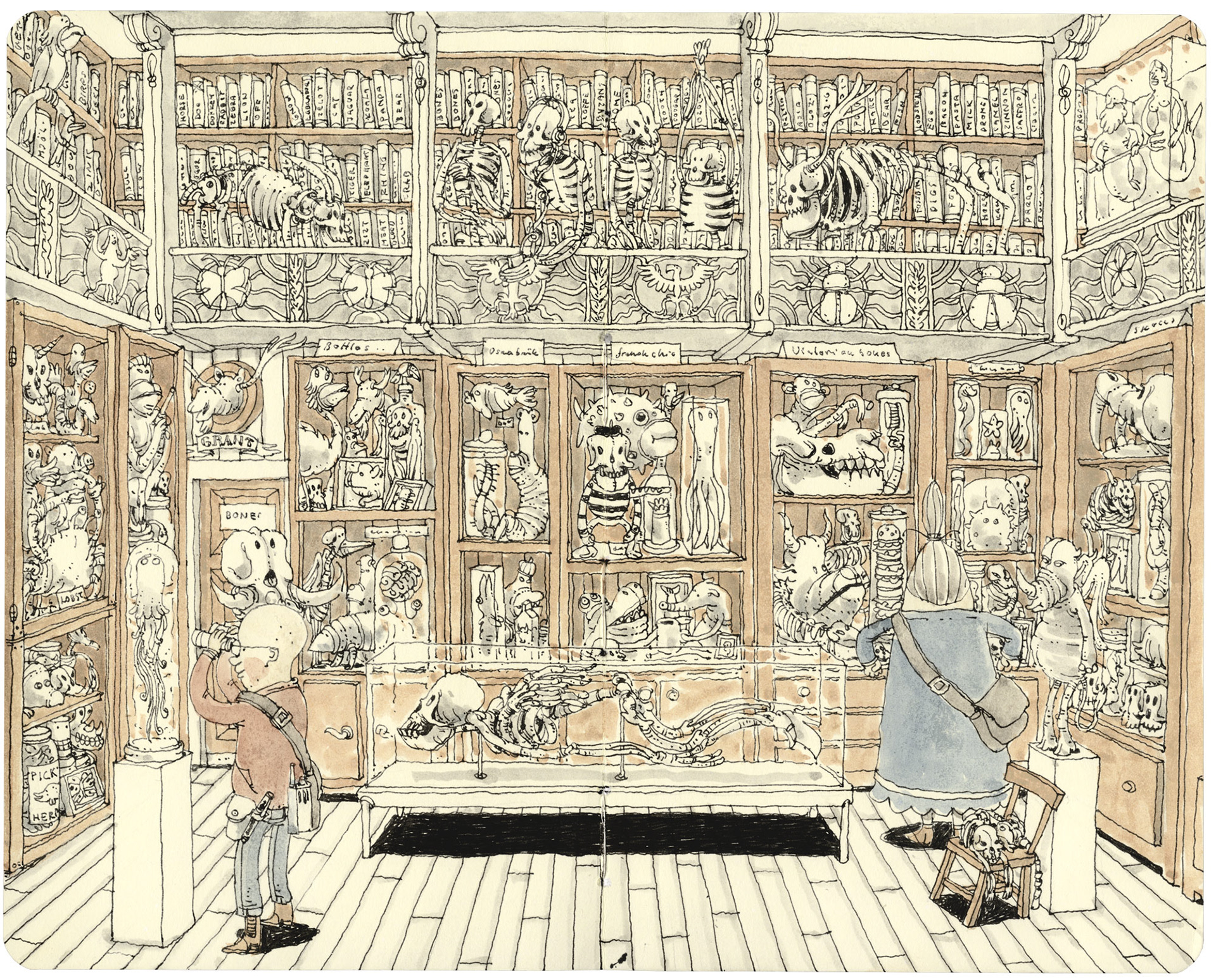 Sprawling Pen Illustrations in Sketchbooks by Mattias Adolfsson Incite the Wild and Absurd