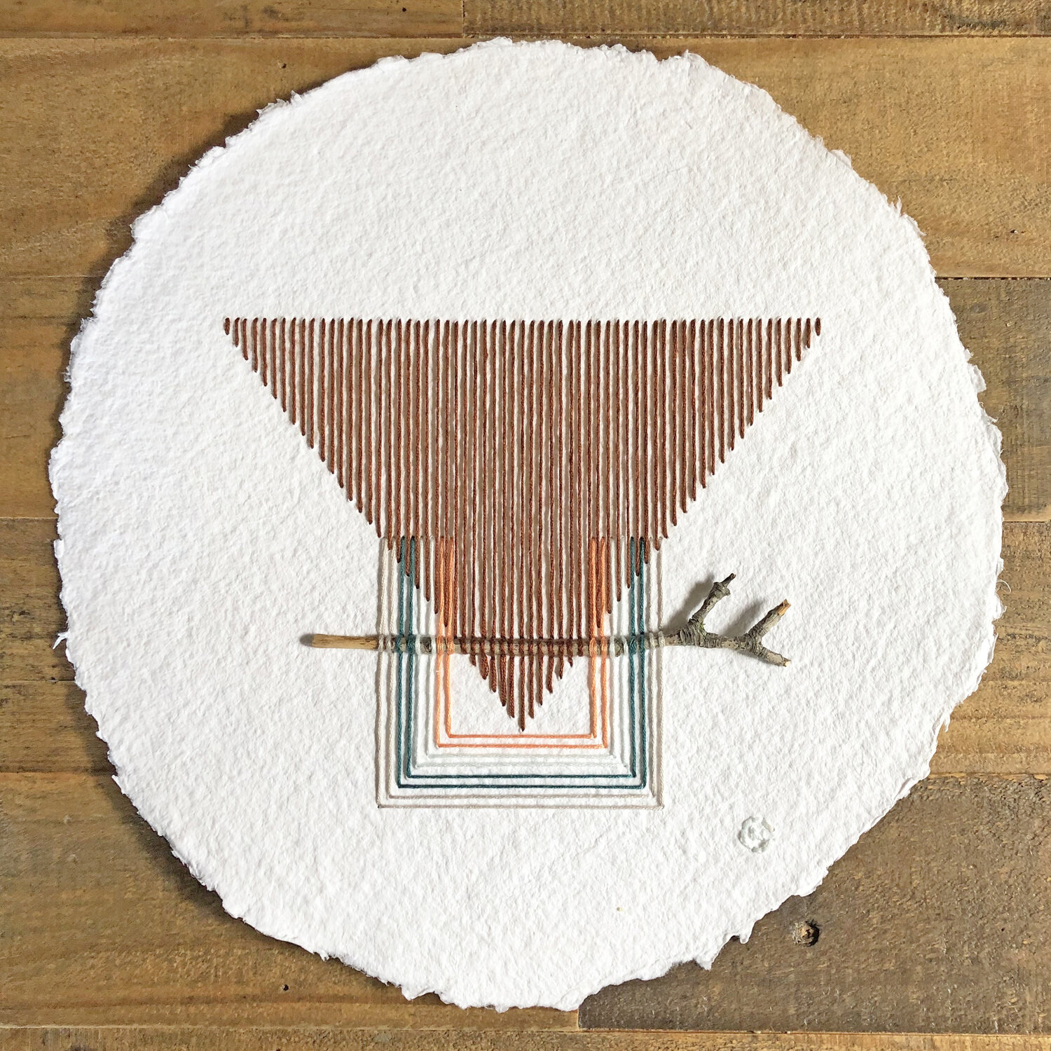 Precise Angular Stitches Encase Found Twigs in Natalie Ciccoricco's New Embroideries