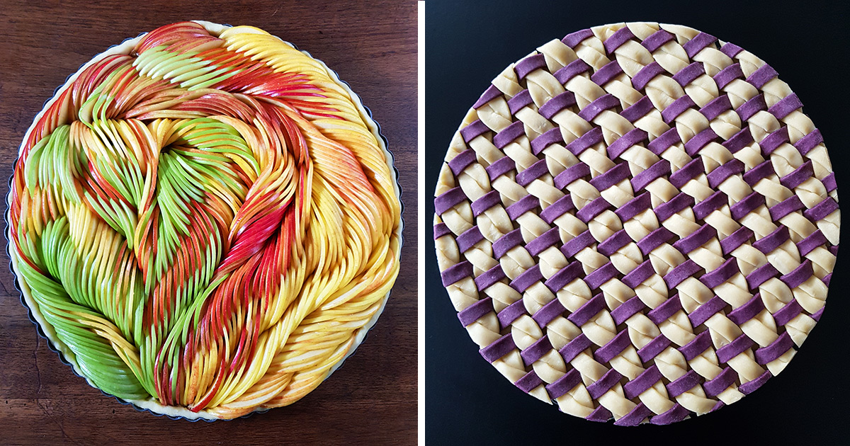 Doughy Braids and Sliced Fruits Arranged into Sumptuous Pies by Karin Pfeiff-Boschek