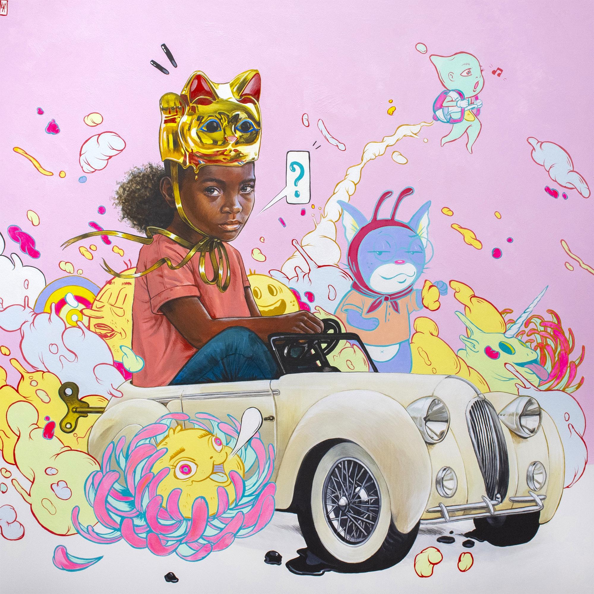 Children's fantasies in paintings by Kayla Mahaffey