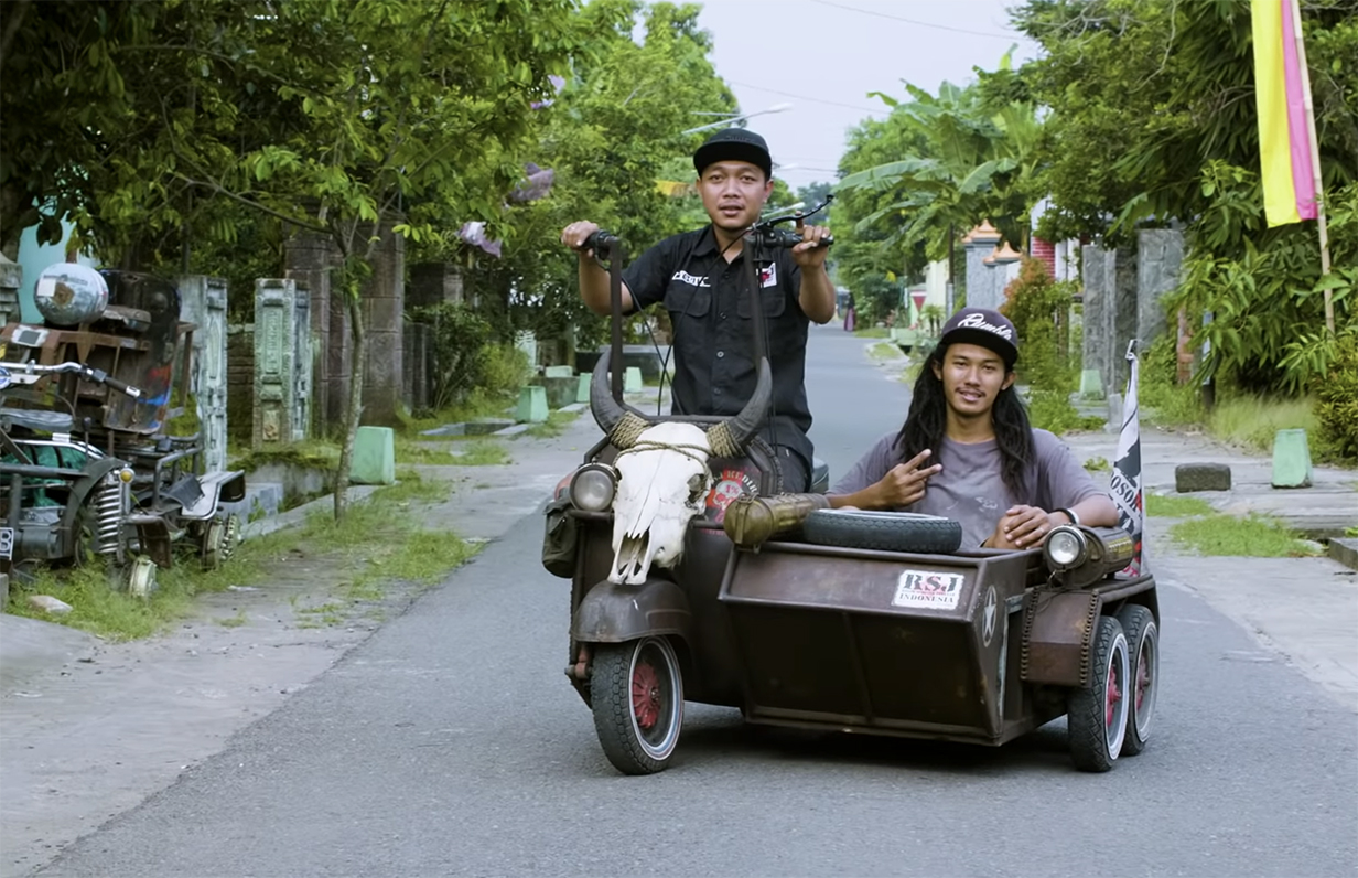 Drive Through Indonesia with Rebel Riders, A Group That Modifies Vespas with Idiosyncratic Designs