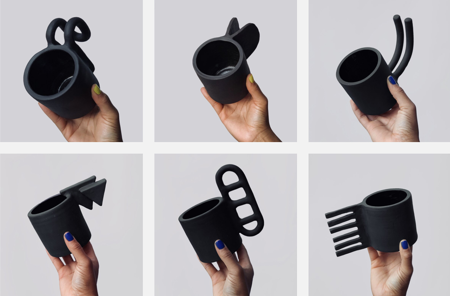 Ceramic Artist Lalese Stamps Creates 100 Wildly Varying Mug Handles In 100 Days Colossal
