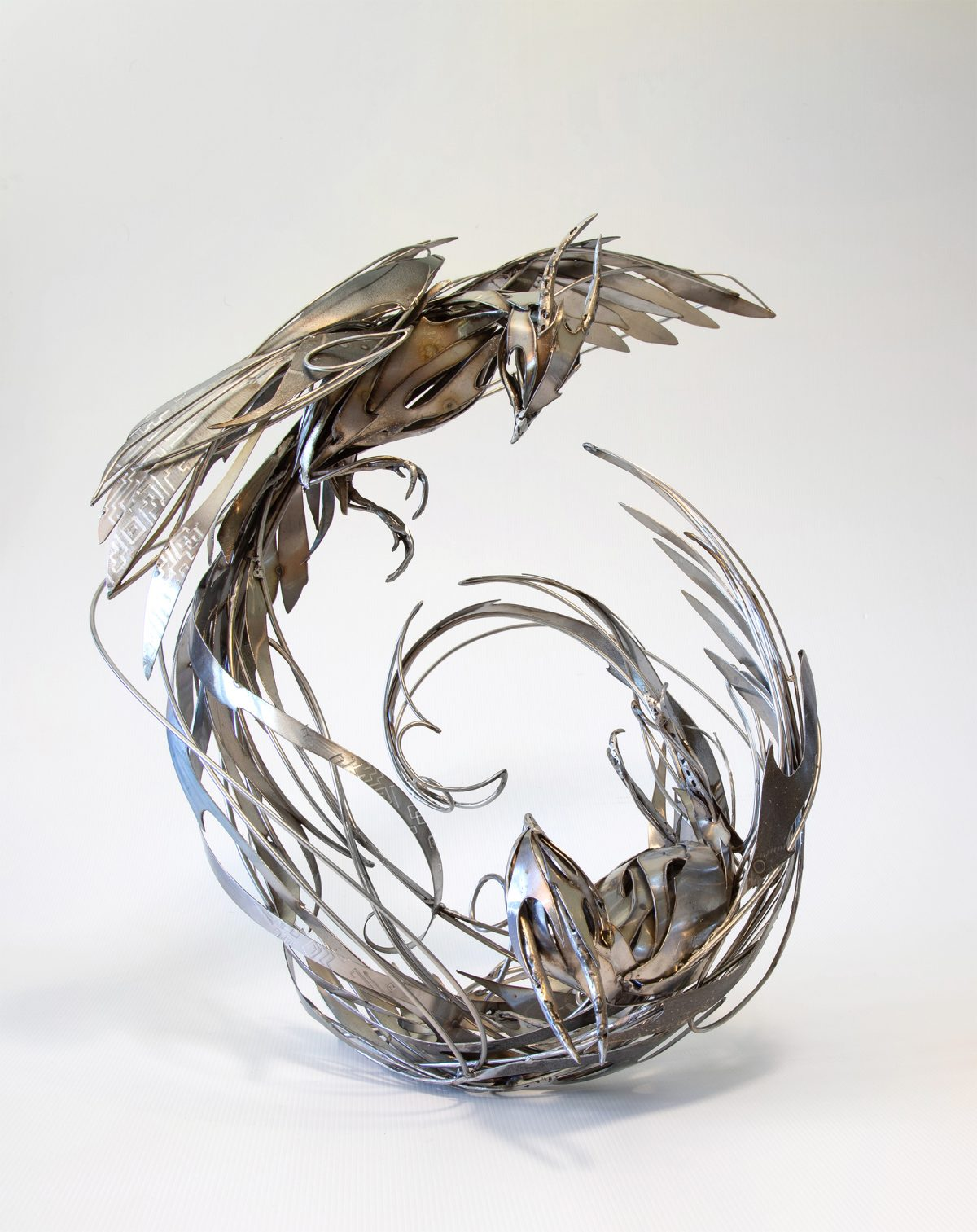 Welded Stainless Steel Creatures by Georgie Seccull Twist and Unfurl in Eternal Motion
