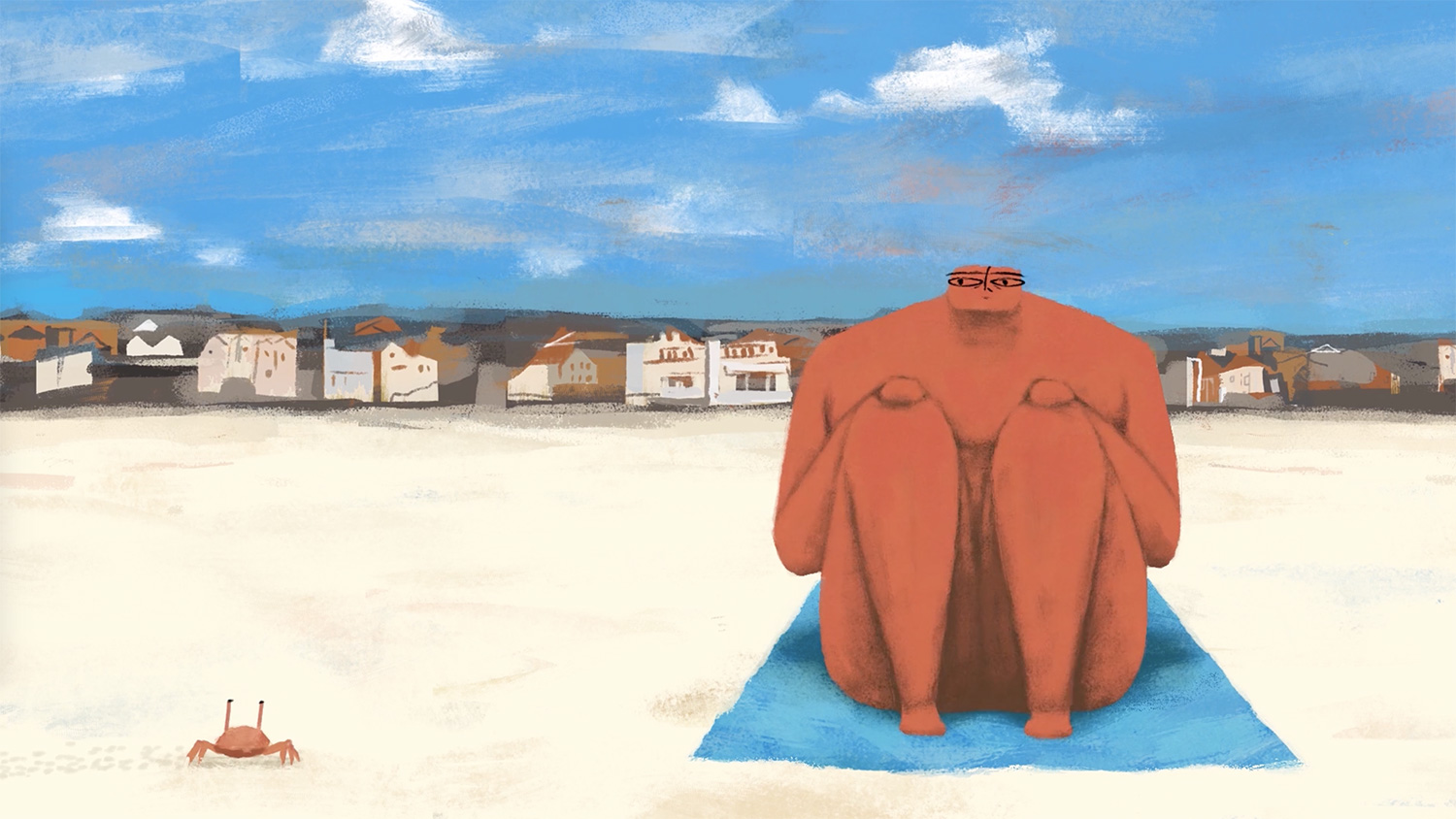 Towels: An Animated Battle for Beach Real Estate Serves as a Metaphor for Rising Global Tension