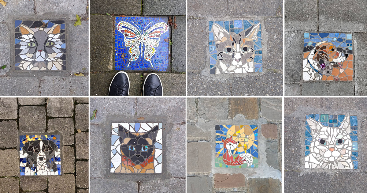 An Artistic Endeavor in Brussels Installs Custom Mosaics Outside Your Home—People Are Choosing Portraits of Their Cats